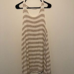 Final touch striped tank dress